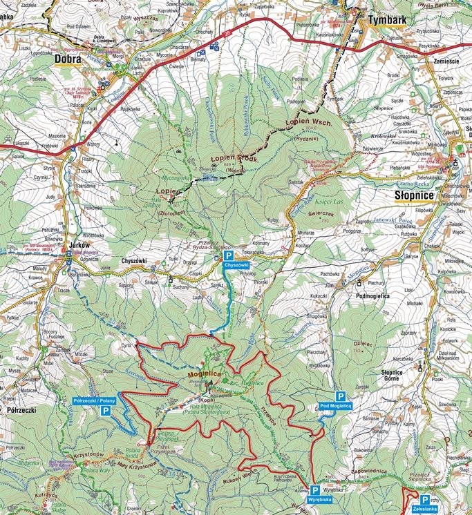 Mogielica 3 mapa