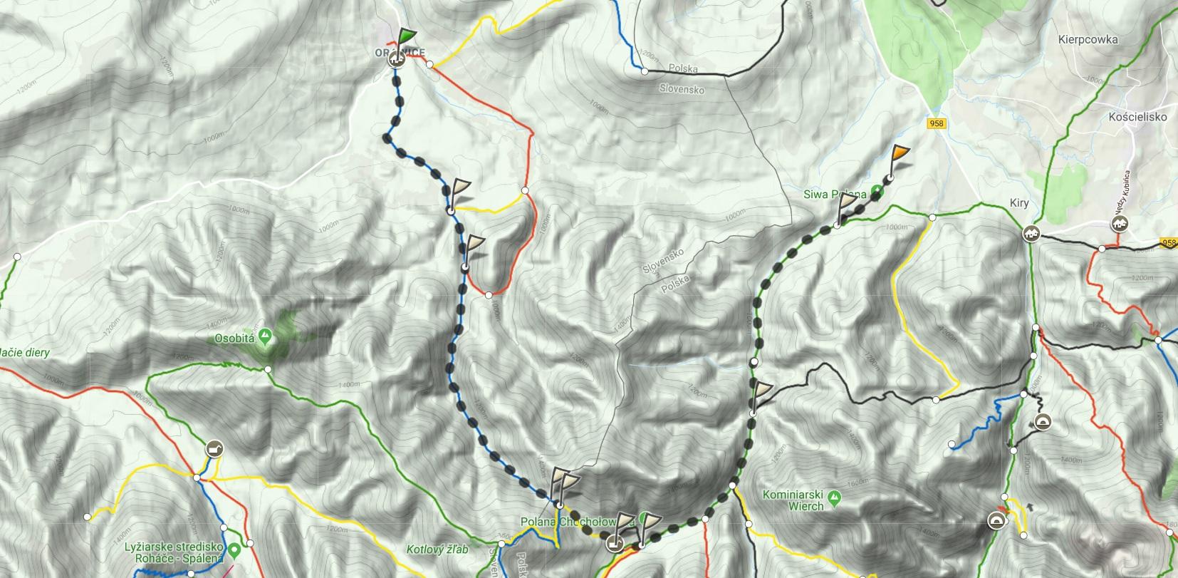 Bobrowiecka Przełęcz mapa