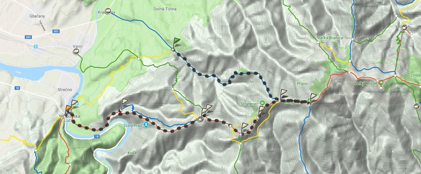 Mały Krywań mapa